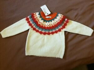 Girls MARKS AND SPENCER M&S Christmas Jumper Age 4-5. New with tags
