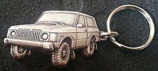 RANGE ROVER llavero plateado Relief - Medidas del vehículo 47x30mm