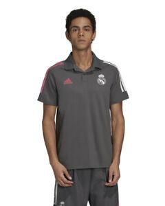 Real Madrid Adidas Polo Maglia Cotone UOMO Grigio 2020 21 AEROREADY
