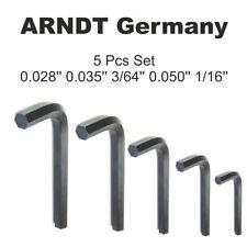 5PCS Hex Key Set Mini Hex Allen Keys 0.028, 0.035, 3/64, 0.050, 1/16 Wrench kit