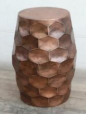 Metal Occasional Stool / Side Table - Copper Coloured Finish - Height 50cm