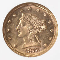 1878 Liberty $2.50 NGC Certified MS62 US Minted Gold Coin