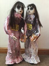 Halloween 2 X Animated standing Scary Dead Girl  Great Prop