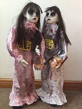 2 X animados pie Scary Halloween chica muerta gran Prop