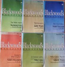 Blackwoods Magazine 6 Issues 'MAGA' Feb-Sep 1980