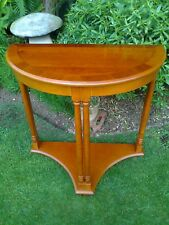 Yew Side/End Demi Lune Table with Lower Gallery