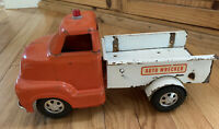 Vintage 1950's Dunwell Toys Auto Wrecker Truck Pressed Steel Very Rare! Collect.