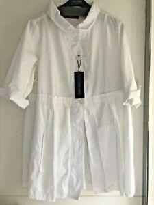 Neu! Gr. 48, SallieSahne, ausgestellte weiße Jacke Joma 88, geknöpft, Taschen