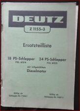 Deutz Schlepper F 2 L 612 / 6 , F 2 L 612 / 5 Ersatzteilliste