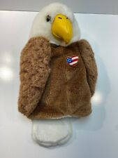 Winning Edge Golf Club Head Cover Bald Eagle. Fits 460cc Drivers. With Flag.