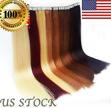 """7A Double Drawn US STOCK 16"""" - 24""""  Tape In Remy Human Hair Extensions"""