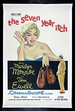 THE SEVEN 7 YEAR ITCH CineMasterpieces 1955 ORIGINAL MOVIE POSTER MARILYN MONROE