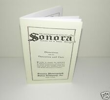 Sonora Phonograph Gramophone Instruction Manual Reproduction