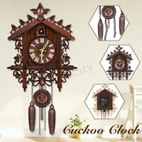Vintage Cuckoo Clock Black Forest Wood Wall Clock Handmade Clock Home  P