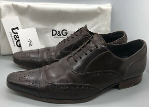 Stunning Designer Mens Shoes By Dolce & Gabbana D&G Amazing Quality Original Box