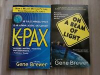 Gene Brewer K-PAX Movie Tie-In & On A Beam of Light Lot of 2