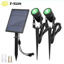 New 2x Solar Powered Outdoor Garden Spotlight LED Waterproof Security Wall Light