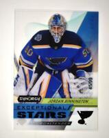2020-21 UD Synergy Exceptional Stars Black #ES-21 Jordan Binnington /99