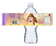 PRINCESS BELLE PERSONALIZED BIRTHDAY PARTY FAVORS WATER BOTTLE LABELS WRAPPERS