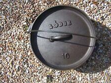 Lodge No. 10 Cast Iron Dutch Oven W/ Flat Lid--I-140