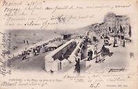 CABOURG la plage vue prise de la digue écrite 1902
