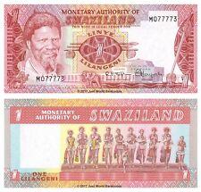 Suazilandia 1 Lilangeni 1974 P-1 Billetes Unc