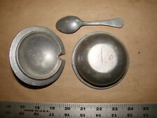 pewter sugar bowl complete with lid and spoon CARSON