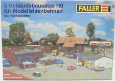 Faller Modellbausätze H0 5 Gebäudebausätze für BW Güterschuppen Bockkran Diesell