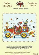 BOTHY THREADS SEW DINKY SANTA XMAS CAR COUNTED CROSS STITCH KIT 20x15cm - NEW