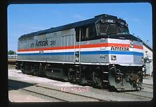 Original Slide Amtrak  Special Paint '1971-2011' F40PH 406 At Spencer NC