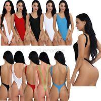 Sexy Damen Body Stringbody Bikini Badeanzug Einteiler Rückenfreie Schwimmanzug