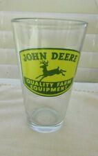 JOHN DEERE QUALITY FARM EQUIPMENT ~ DEER LOGO ~  DRINKING GLASS 6