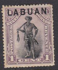 LABUAN :1894 1c overprint on North Borneo perf 13 1/2-14  SG 62b mint