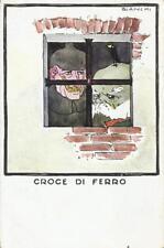 CARTOLINA VIAGGIATA 1916 _ PRIMA GUERRA MONDIALE _ CROCE DI FERRO _ ILL. BIANCHI