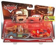 Mattel Disney Pixar Cars 2-pack Mater & Lightning McQueen No tires # DHL20