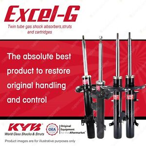 Front + Rear KYB EXCEL-G Shock Absorbers for LAND ROVER Freelander 2 4WD SUV