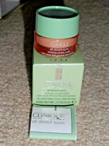 CLINIQUE BRAND NEW ALL ABOUT EYES CREAM / GEL 5ML IN BOX TRAVEL SIZE BNIB