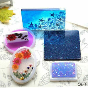 DIY Coaster Resin Casting Mold Silicone Jewelry Pendant Making Mould Craft Set