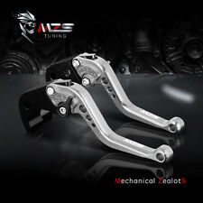 MZS Silver Short Clutch Brake Levers For BMW HP2 Enduro R1200GS R1200RT K1200R