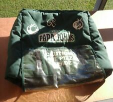 Papa Johns Pizza Insulated Large Green Delivery Hot Bag / Cold Tote - Excellent