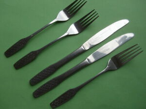 Viners SHAPE: Two Knives + Three Forks - Useful Spares in Very Nice Condition