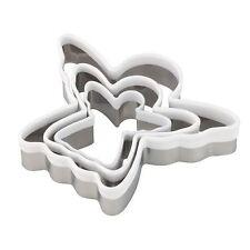 3 pce Angel Cortadores-Pastelería Glaseado Navidad Galletas Cookies Masa Play Doh