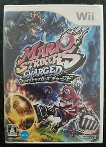 Mario Strikers Charged Japanese Nintendo Wii Brand New Sealed