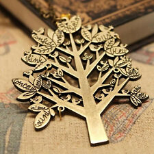 Women Vintage Charms Bird Tree Style Dress Pendant Necklace Sweater Long Chain
