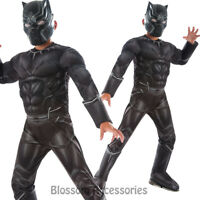 CK671 Black Panther Civil War Superhero Hero Avengers Fancy Dress Boys Costume