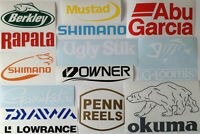 Fishing Stickers Pack of 12 Fishing Brand Stickers New Cars Boats Walls Windows