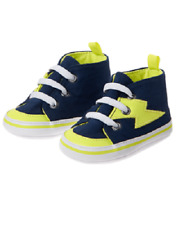 Gymboree Space Lightning Bolt Blue & Green Crib Shoes Infant Baby Boy Size 3 NEW