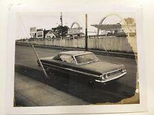 PHOTO ANCIENNE - VINTAGE SNAPSHOT - Car- Unusual -Mac Donald's
