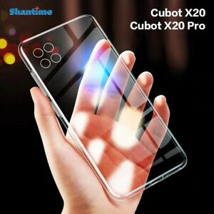 CLEAR Silicone Ultra Thin Case  Soft TPU Cover Skin For Cubot X20 Pro + Glass