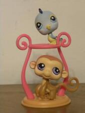 Littlest Pet Shop LPS #189 Monkey and #190 Blue Bird Pet Pairs